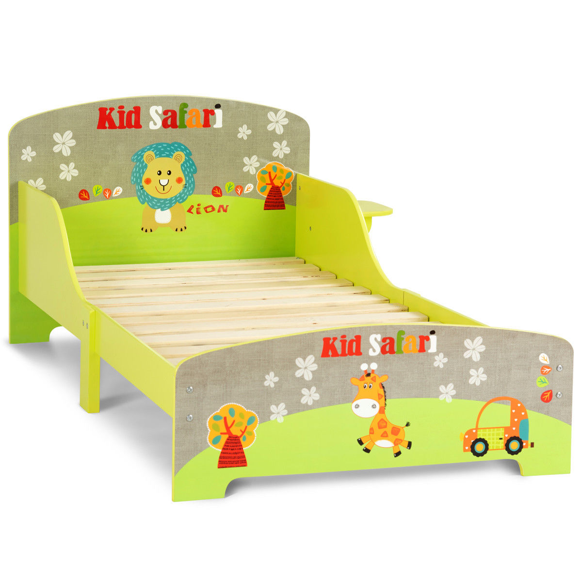 Goplus Kids Toddler Bed MDF Children Bedroom Boys and Girls Colorful  Furniture New 0
