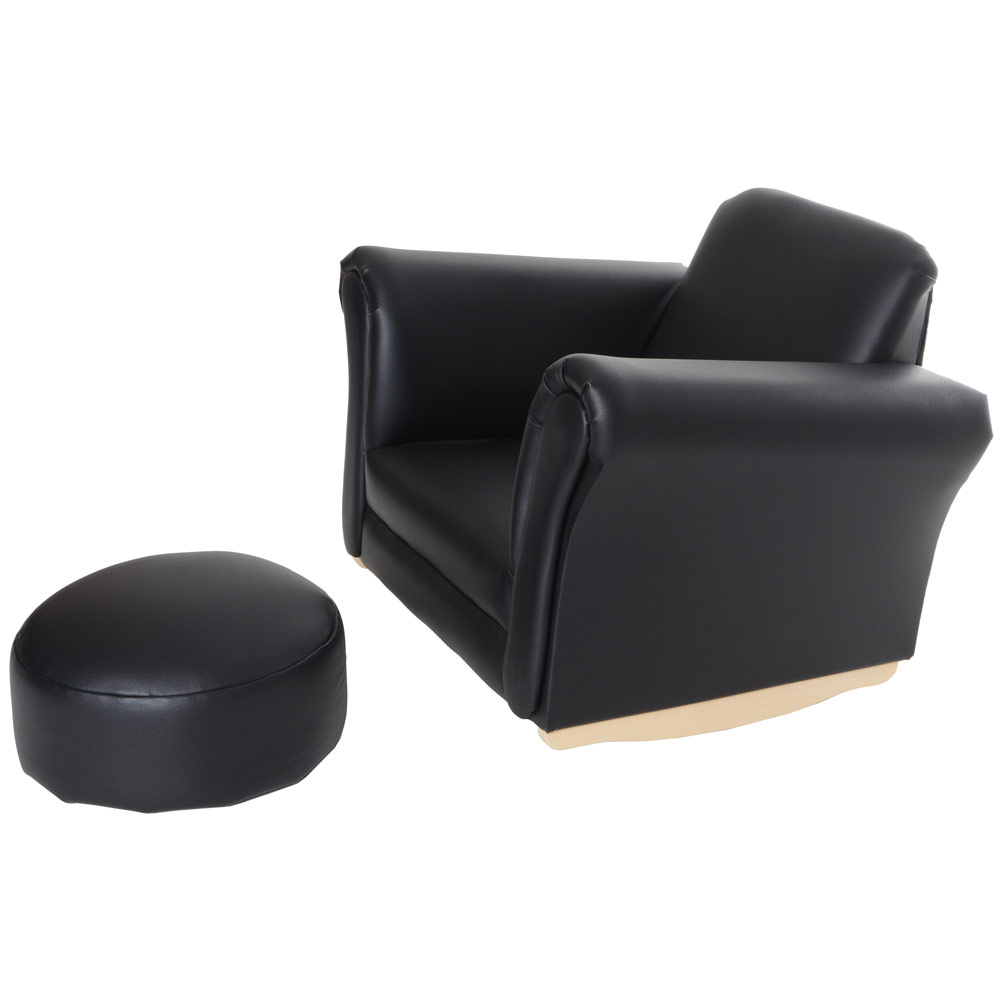 Childrens Faux Leather Armchair Brilliant Kids Brown Tub Chair And Stool  Toddler Pertaining To 2