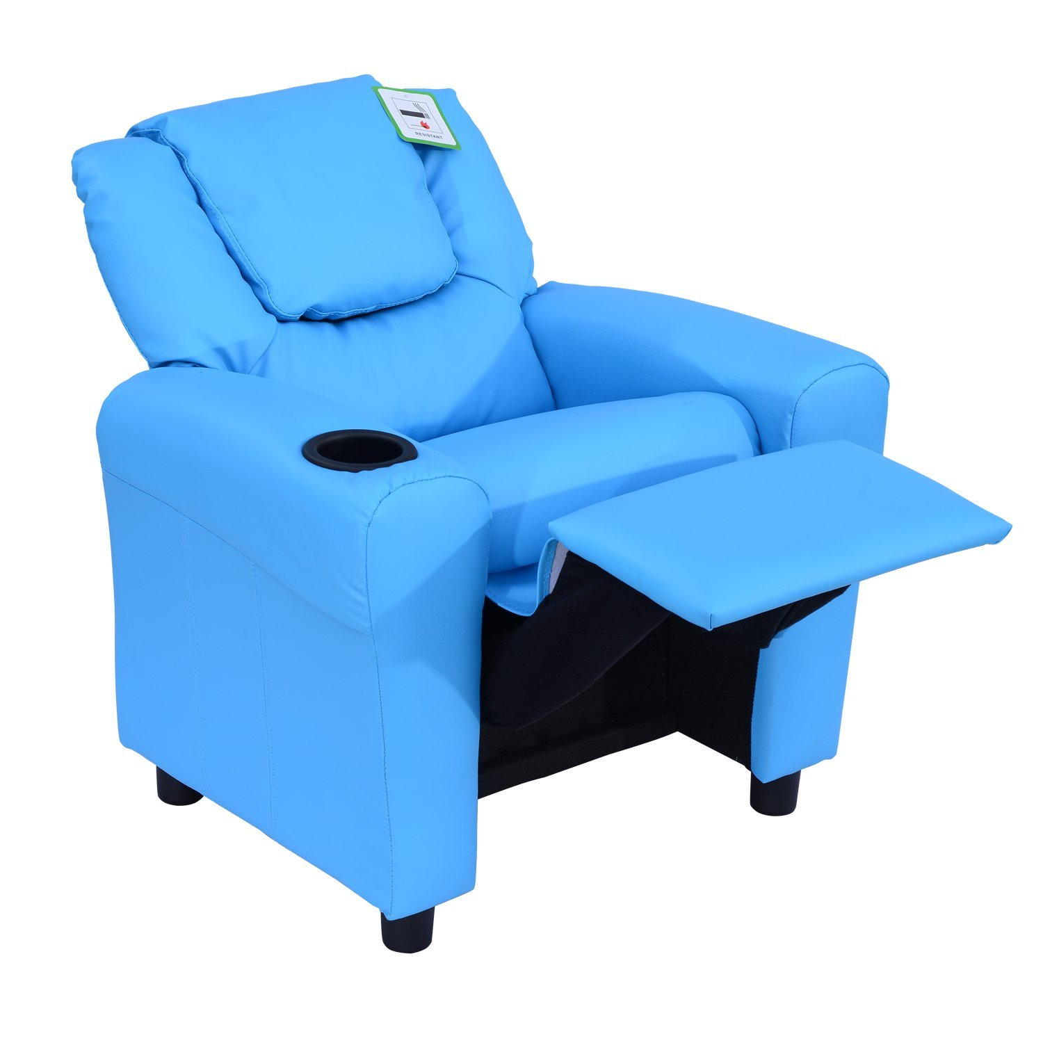 Kids Leather Armchair Home Safe Best For Children With Hom Sofa Lying  Recliner Reclining Toddler And Footstool Blue Chair Design Company Without  Arms