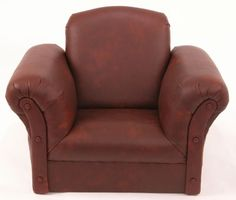 Kids Chairs Dark Brown Faux Leather