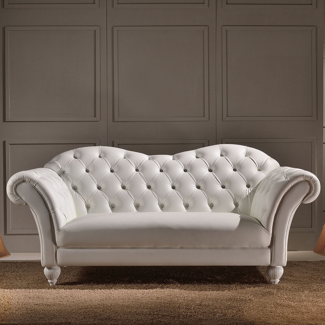 classic sofa / leather / 2-person / 3-seater - SHAGGY