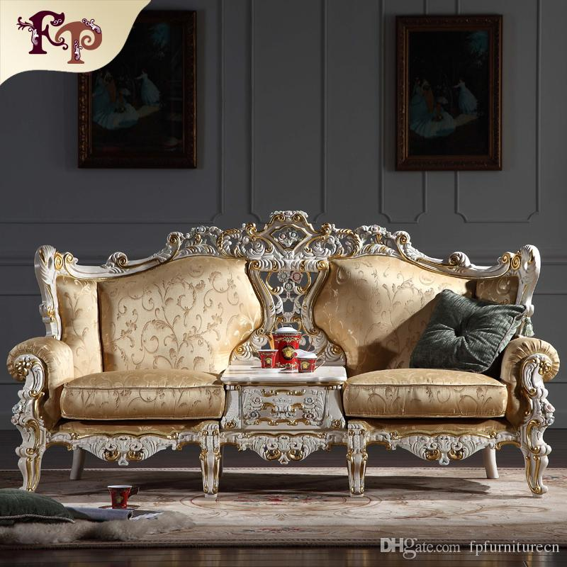 2019 Baroque Living Room Furniture European Classic Sofa Set With Gold Leaf  Gilding Italian Luxury Classic Sofa Set From Fpfurniturecn, $3694.48 |  DHgate.