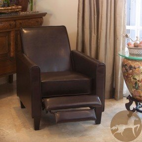 Leather Recliner Club Chair Sports Small Spaces Relax TV Read Living .