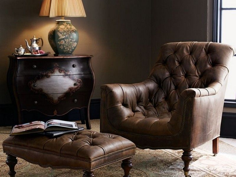 Leather Chair With Ottoman, Leather Club Chairs, Chair And Ottoman,  Armchair, Office