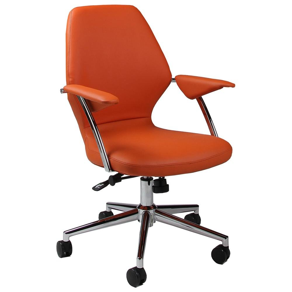 orange colored office chairs