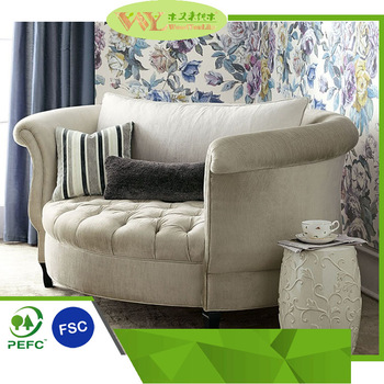 Egg Shaped Round Double Sofa Chair Comfortable Sofa Chair for Luxury Living  Room
