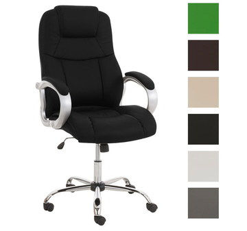 Flexible Solid Comfy Desk Chair In Black Finish
