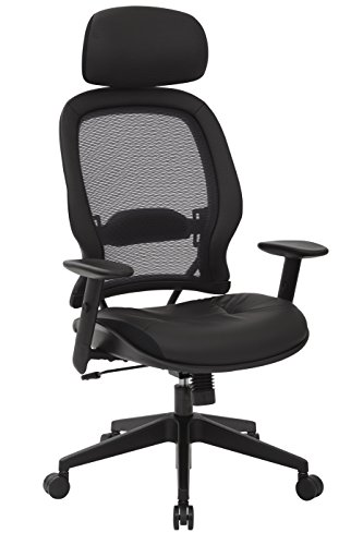 Another one of the comfy desk chairs is the Space Seating Professional. It  has a comfortable padded leather seat and breathable backrest.