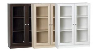 Small bookcase with glass doors 9