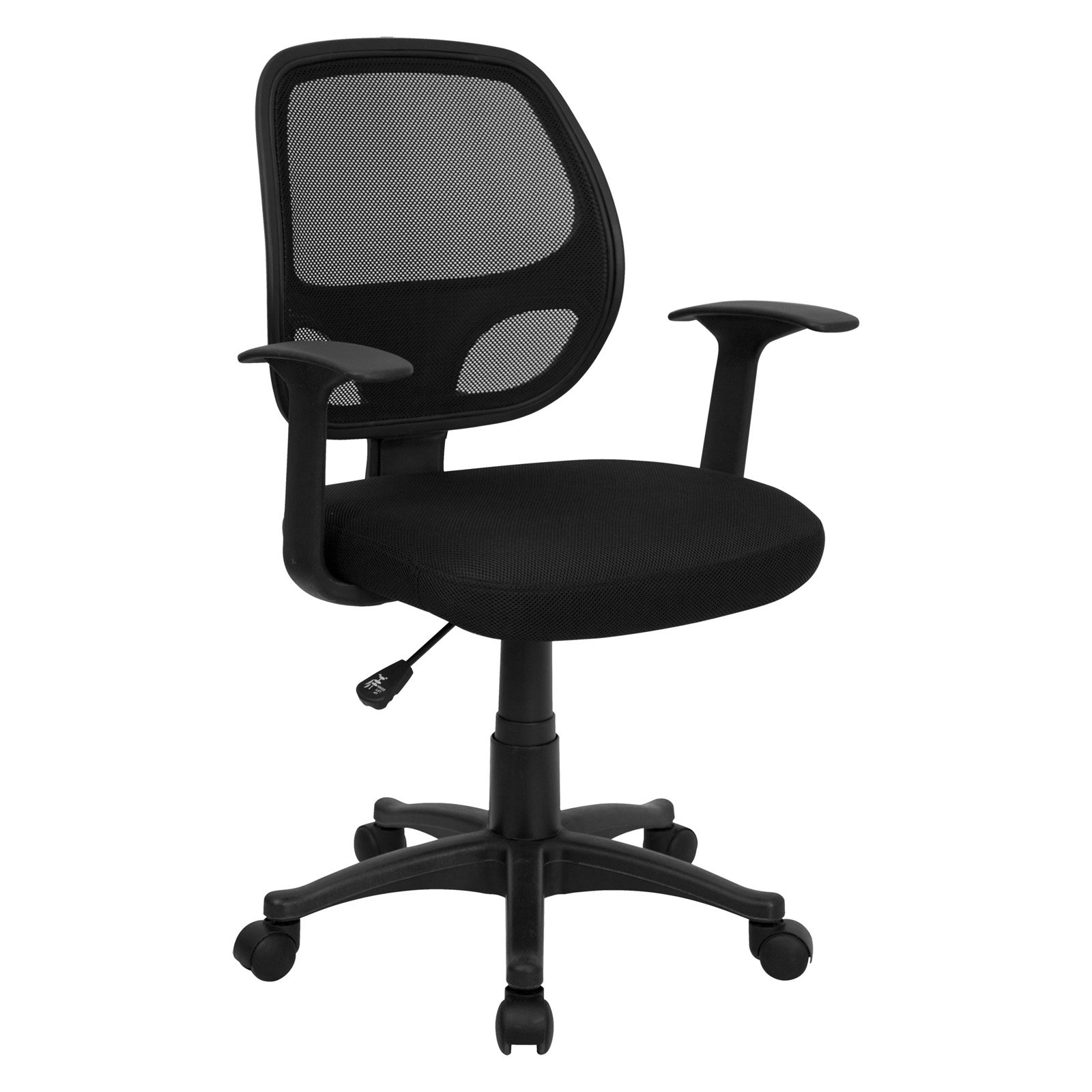 (Set of 8) Flash Furniture Mesh Back Computer Chair, Black