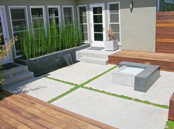 Modern, Concrete, Patio, Fire Feature Fire Pit DC West Construction Inc.  Carlsbad