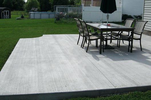 concrete for patio concrete patios a durable one to choose