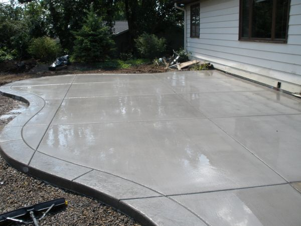 Concrete patio with stamped border | Deck/Patio | Pinterest | Concrete patio,  Concrete patio designs and Cement patio