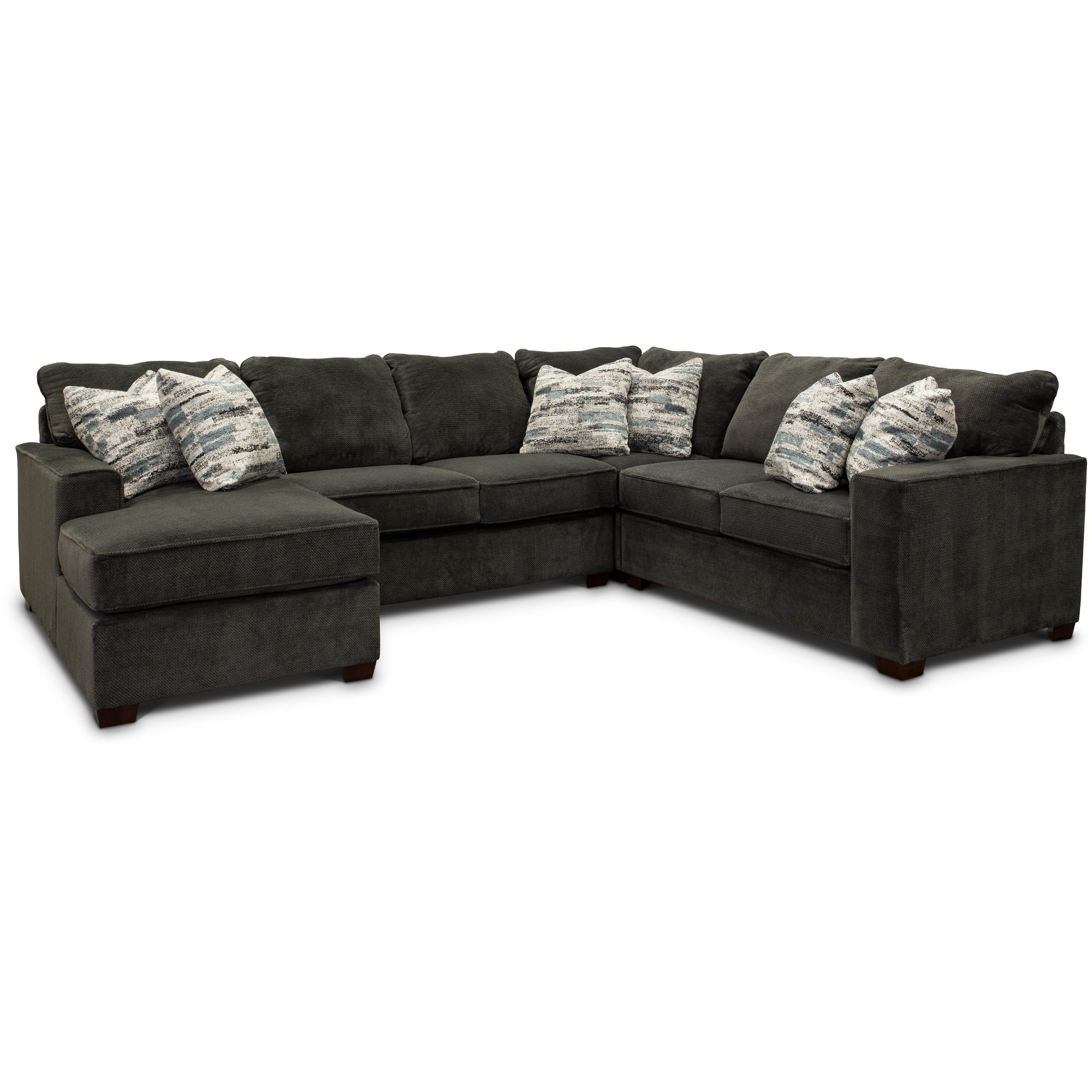 Dark Gray 4 Piece Sectional Sofa with RAF Loveseat - Autumn | RC Willey  Furniture Store