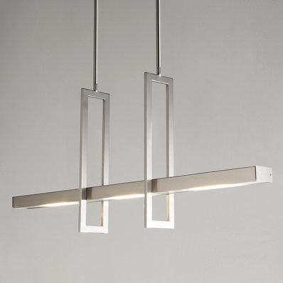 Energy Efficient Modern Balance Beam LED Linear Chandelier