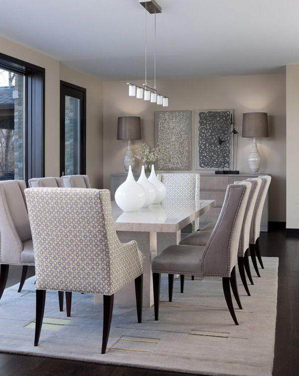 Dining room Dining Room Design, Dining Room Decor Elegant, Grey Dining Room  Chairs,