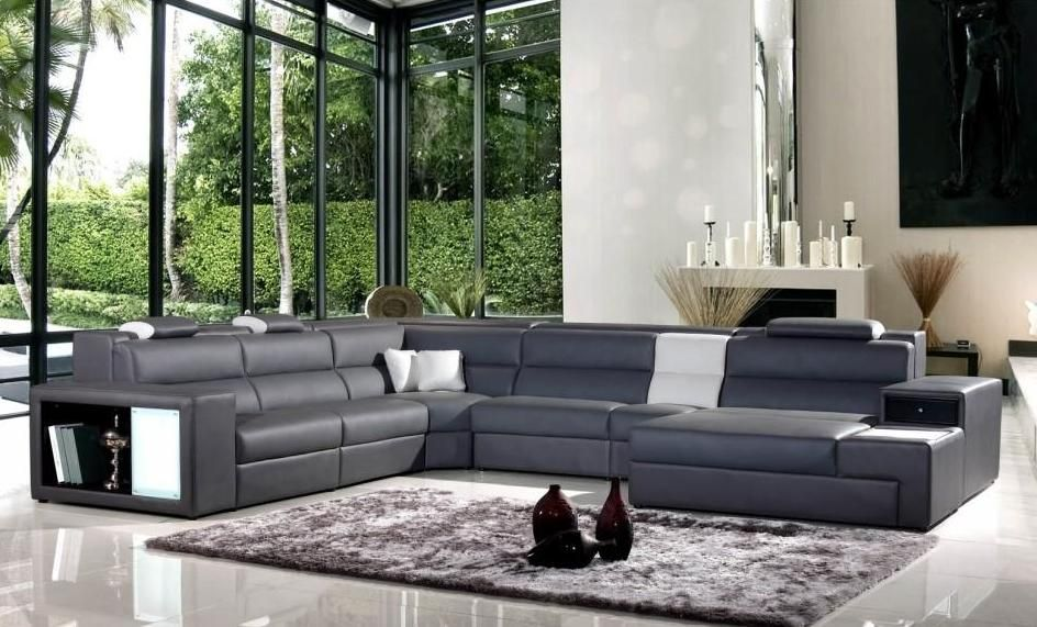 Genuine and Italian Leather, Corner Sectional Sofas