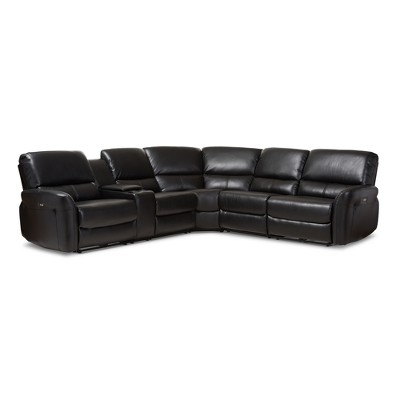 Amaris Modern And Contemporary Bonded Leather 5pc Power Reclining