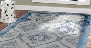 Amazon.com: Contemporary Rugs for Living Room 5x8 Blue Area Rug