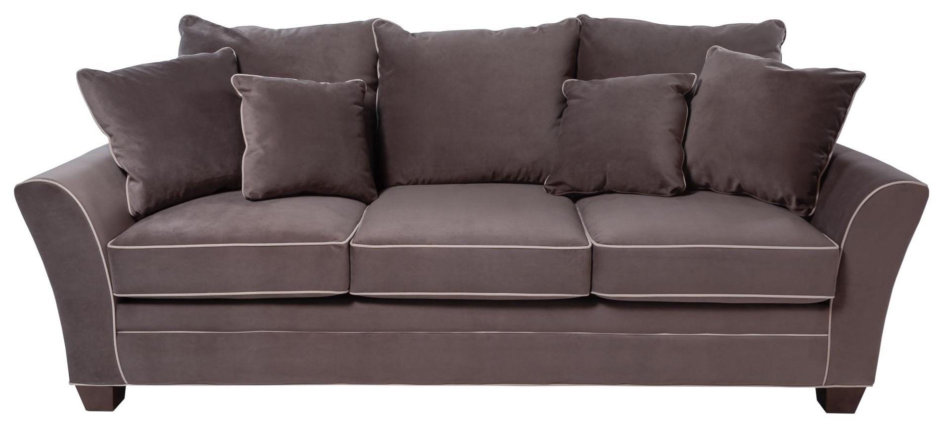 Encore Contemporary Sofa with Block Feet