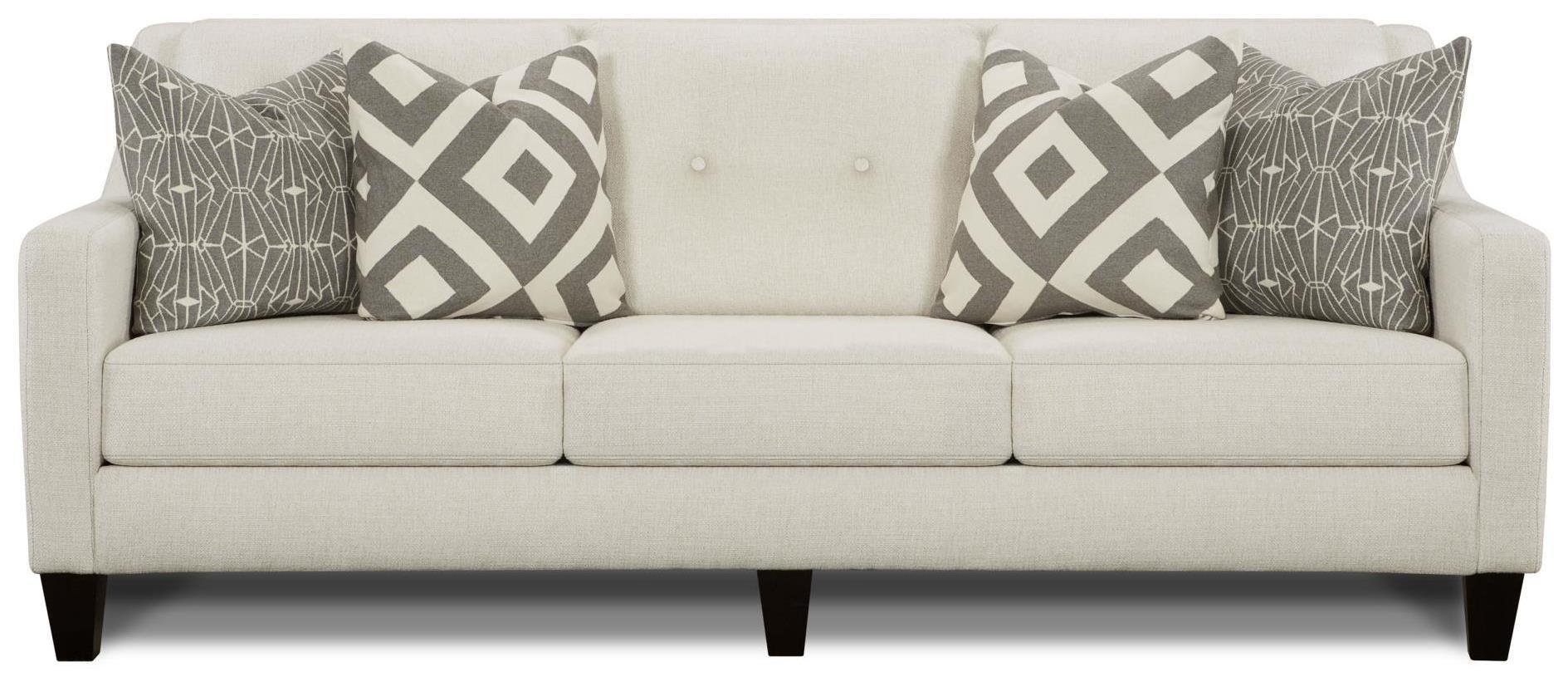 Emblem Contemporary Sofa with Track Arms