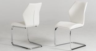 Your bookmark products. Welles - Modern White Leatherette Dining Chair