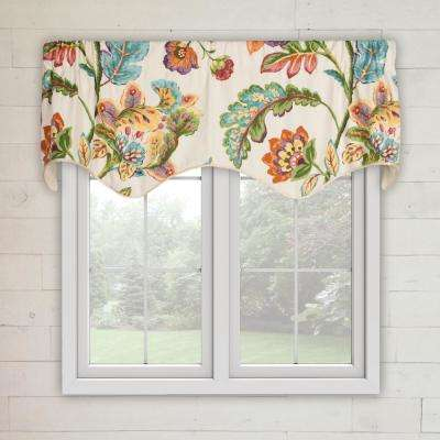 Modernism 15 in. L Cotton Lined Scallop Valance in Confetti