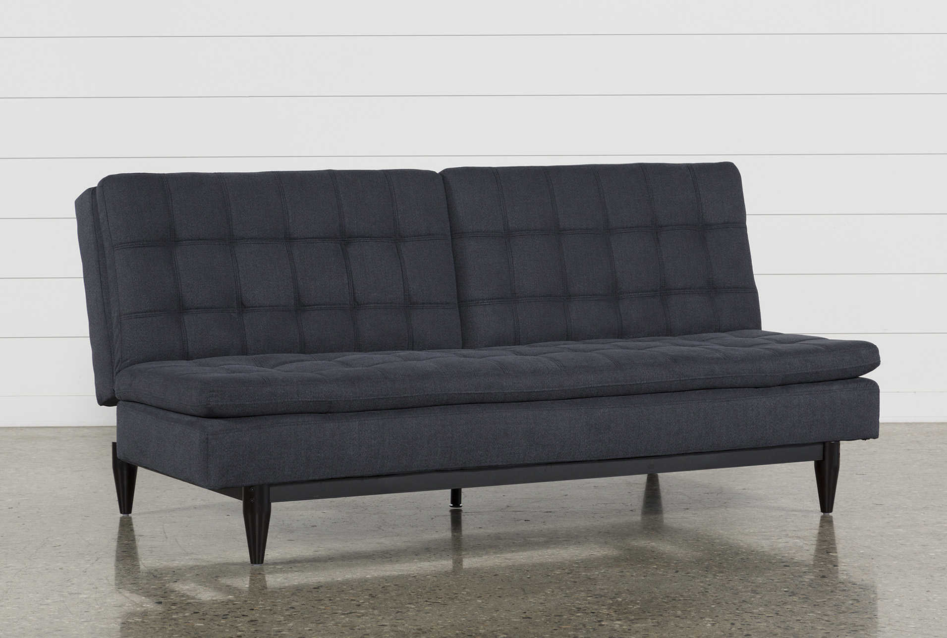 Peggy Grey Convertible Sofa Bed - 360