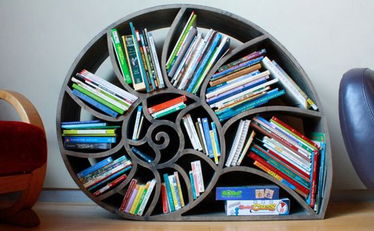 Nautilus Bookshelf - Cool bookshelves