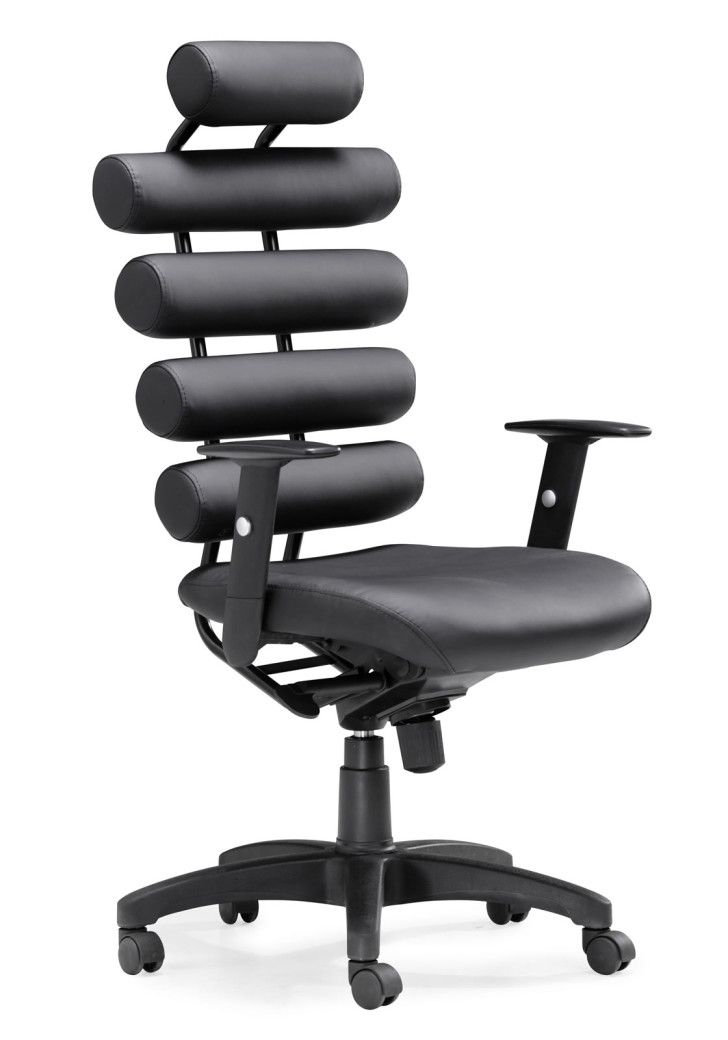 How to Arrange Cool Office Furniture: Breathtaking Zuo Modern Designer Office  Chairs Very Comfortble For Doing Task In Black Unit Head Arm And Wheel From