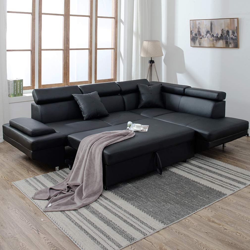 Traveller Location: Corner Sofas Sets for Living Room, Leather Sectional Corner Sofa  with Functional Armrest and Support: Kitchen & Dining