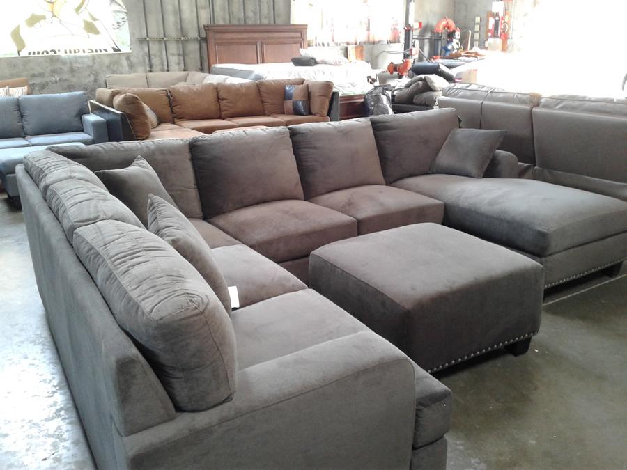 Cloth Grey Corner Sofa