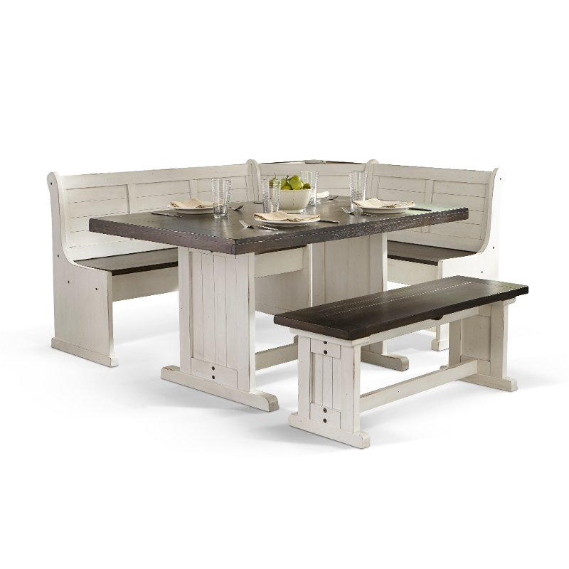 Two-Tone French Country 3 Piece Corner Dining Set - Bourbon County | RC  Willey Furniture Store