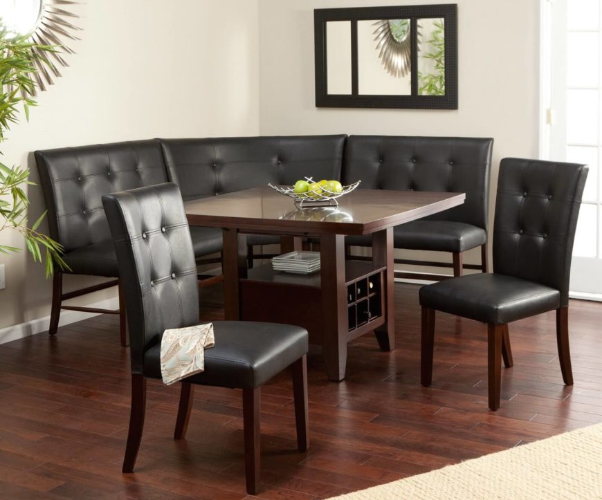 Layton Espresso 6-Piece Breakfast Nook Set