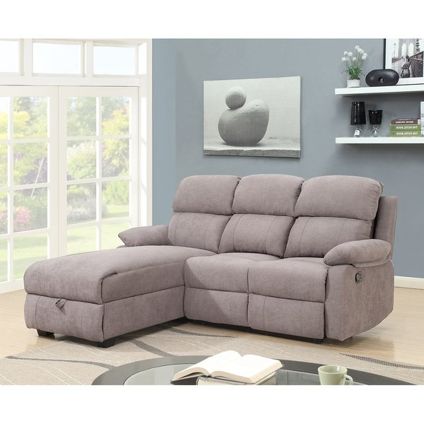 Shop Melody Recliner L-shaped Corner Sectional Sofa with Storage - On Sale  - Free Shipping Today - Overstock - 24015154