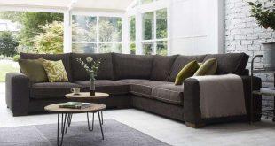 Ashdown Medium Corner Sofa - Super Grand + Medium Unit in Habitat Sable  with Mystic Mink