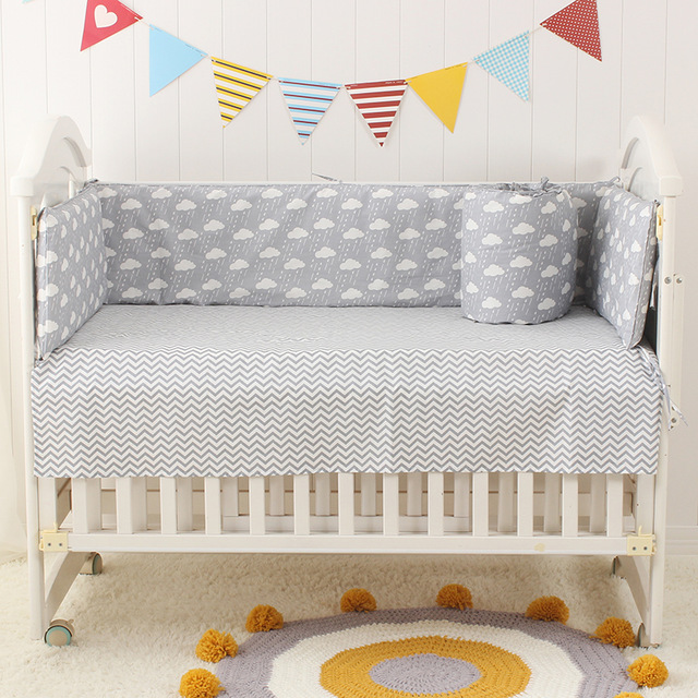 Multi-size Infant Baby Crib Cot Bed Linen 100% Cotton Detachable Baby Cot  Bedding