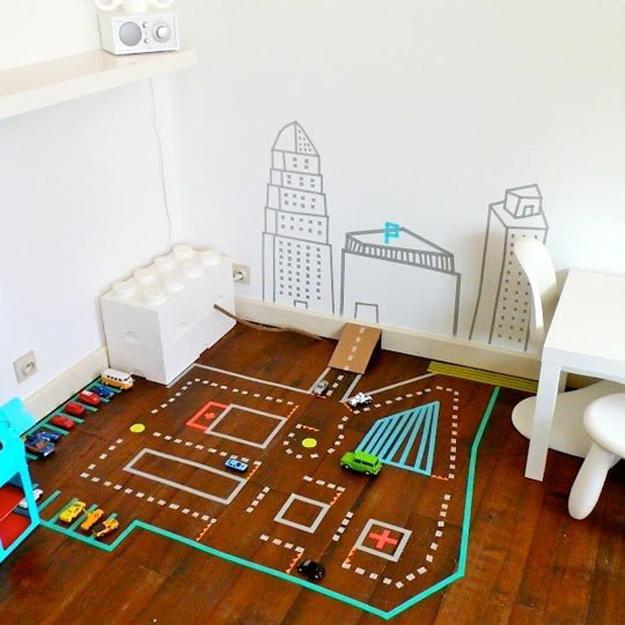 creative interior decorating with washi tape