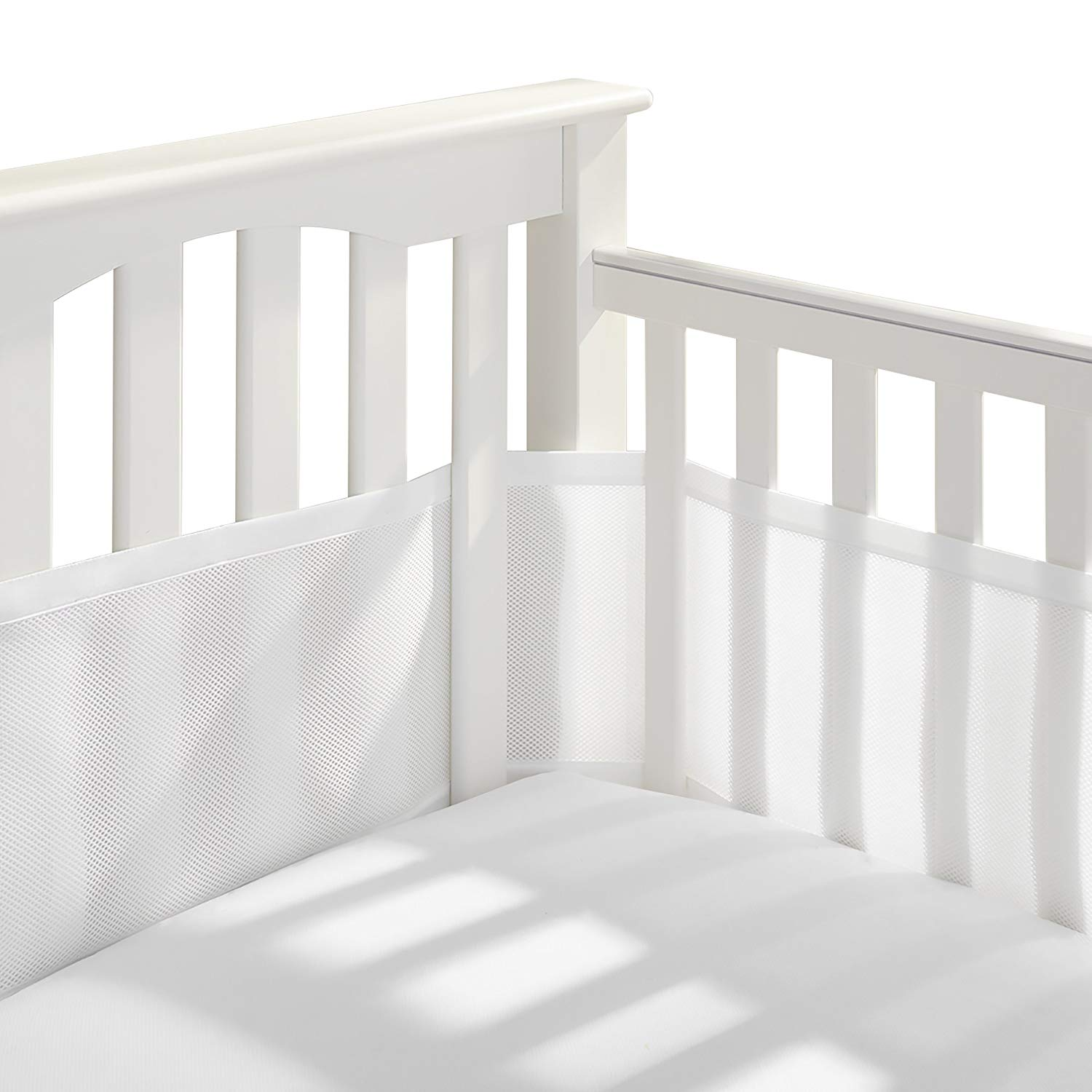 Traveller Location: Breathable Baby Breathable Mesh Crib Liner | Doctor Endorsed |  Prevents Babies from Getting Stuck in Crib Slats | Fits 4 Sided Slatted &  Solid