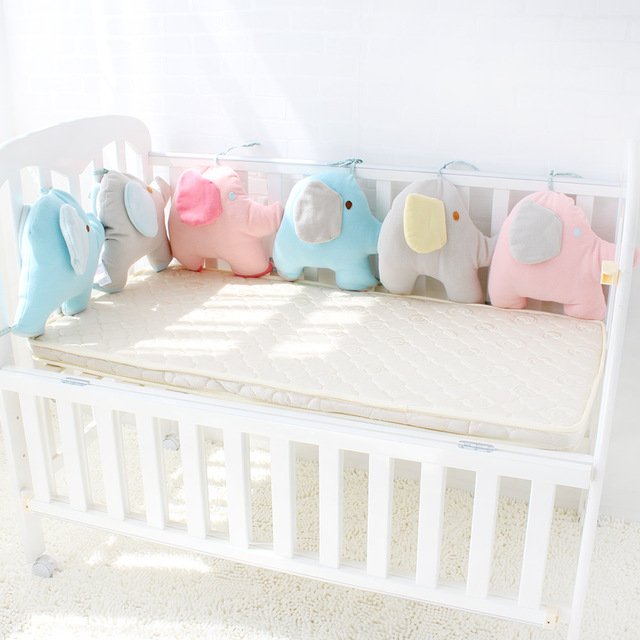 Baby Bed Bumper For Newborns Elephant Crib Bumper Infant Cot Crotch Soft  Thick Baby Crib Protector