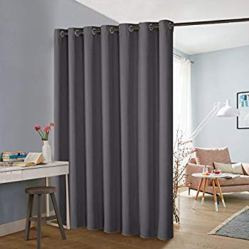 PONY DANCE Vertical Blinds Partition - Blackout Slider Curtains Room Divider  Screen Wide Thermal Curtain Drapes