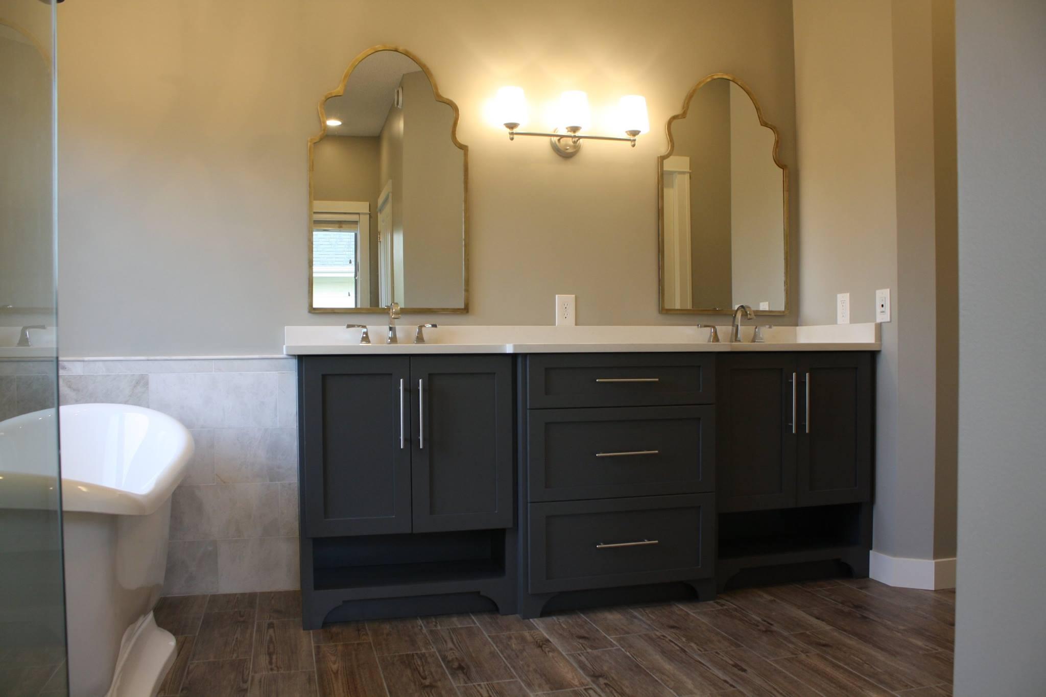 Bathroom Remodel Bath Vanity Lake Elmo MN Custom Cabinets