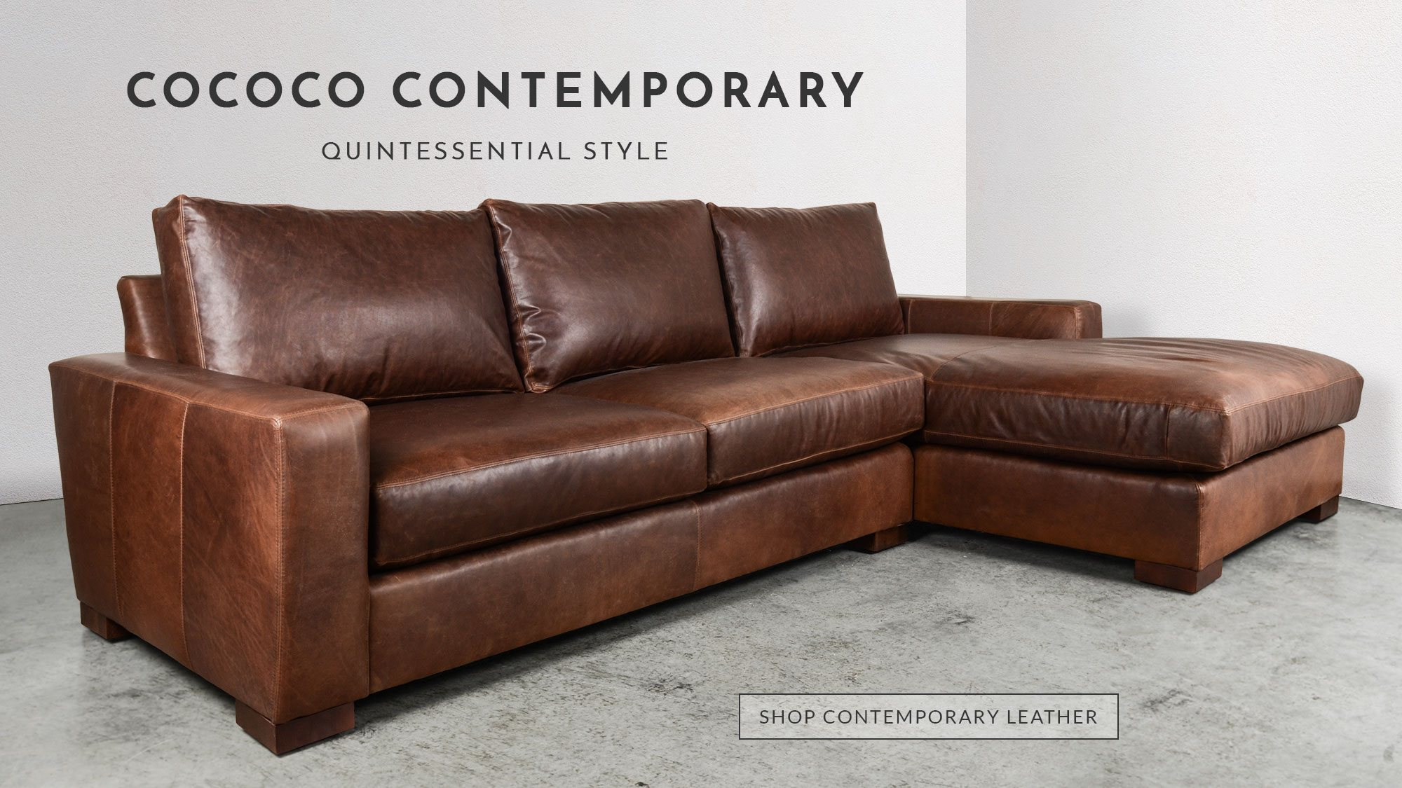 COCOCO Home provides a unique shopping experience when compared to high-end  furniture stores, offering custom leather or fabric furniture.
