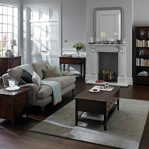 John Lewis home decor Dark Wood Living Room, Beige Living Rooms, Dark Wood  Bedroom