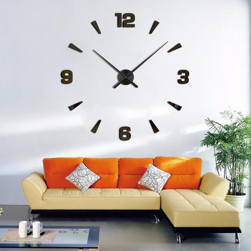 Wholesale New Arrival Wall Clocks Modern Style Wall Watch Sticker Acrylic  3D DIY Clock Home Decor Wall Sticker Living Room Decorative Decorative  Kitchen