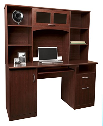 Landon Desk with Hutch, Cherry