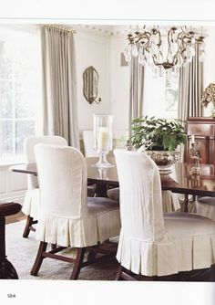 Love These Darling Chairs Dining Room Chair Slipcovers, Dining Room Chair  Covers, Chair Cushions