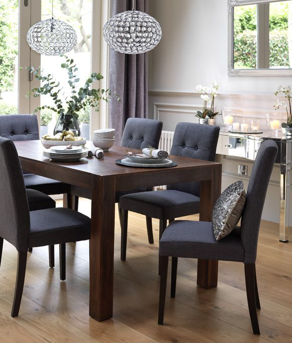 Home Dining Inspiration Ideas. Dining room with dark wood dining