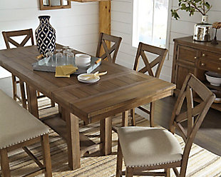 large Moriville Counter Height Dining Room Extension Table, , rollover