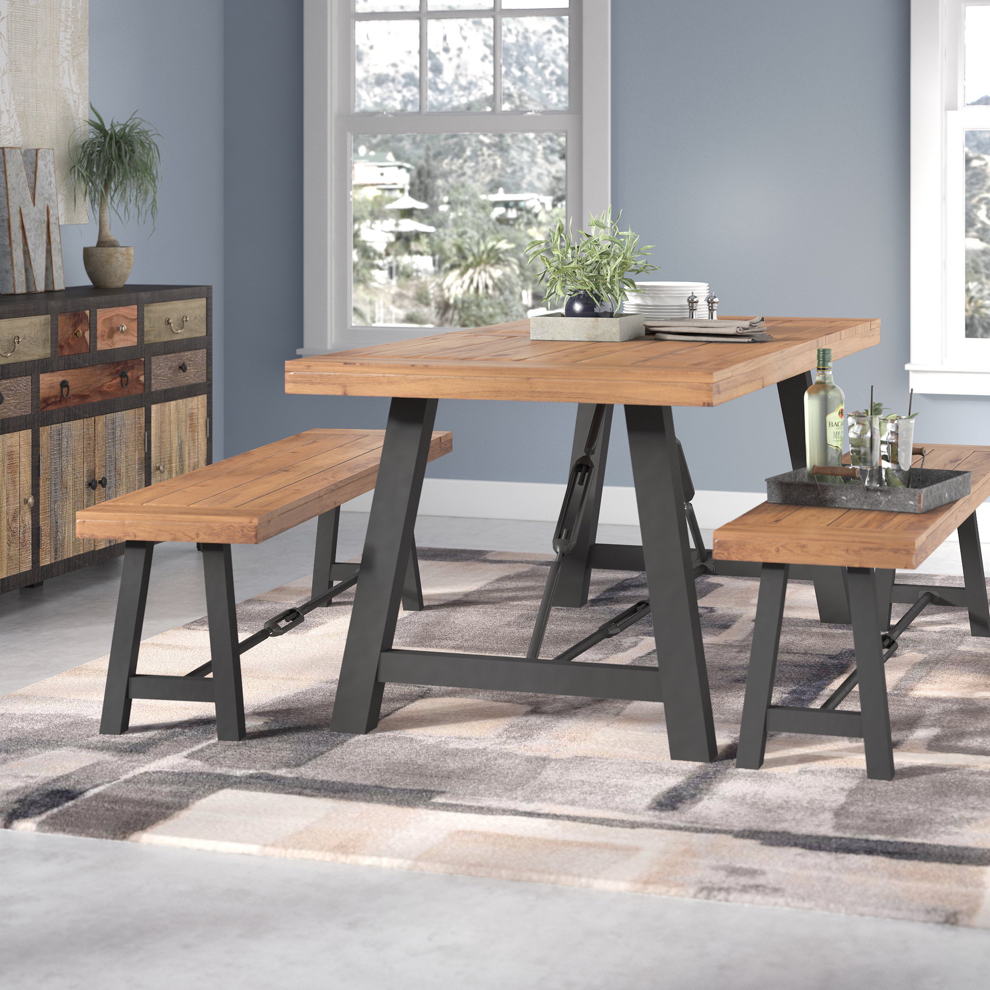 Trent Austin Design Lebanon 3 Piece Solid Wood Dining Set & Reviews |  Wayfair